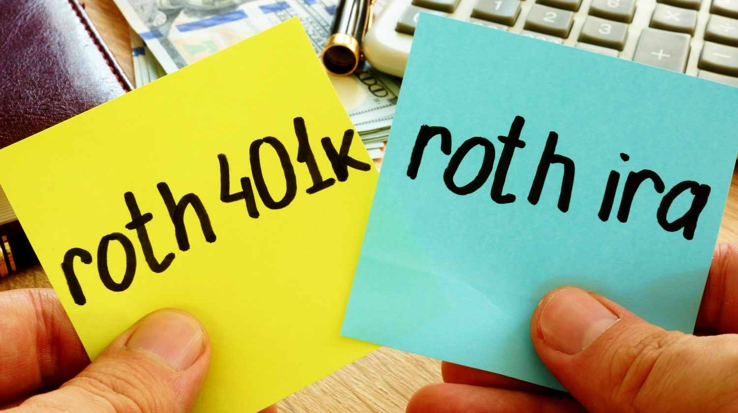 Feature | roth written on post its | What Is A 401(k) vs Roth IRA? | Benefits Of Both Inside Your IRA | roth ira limits