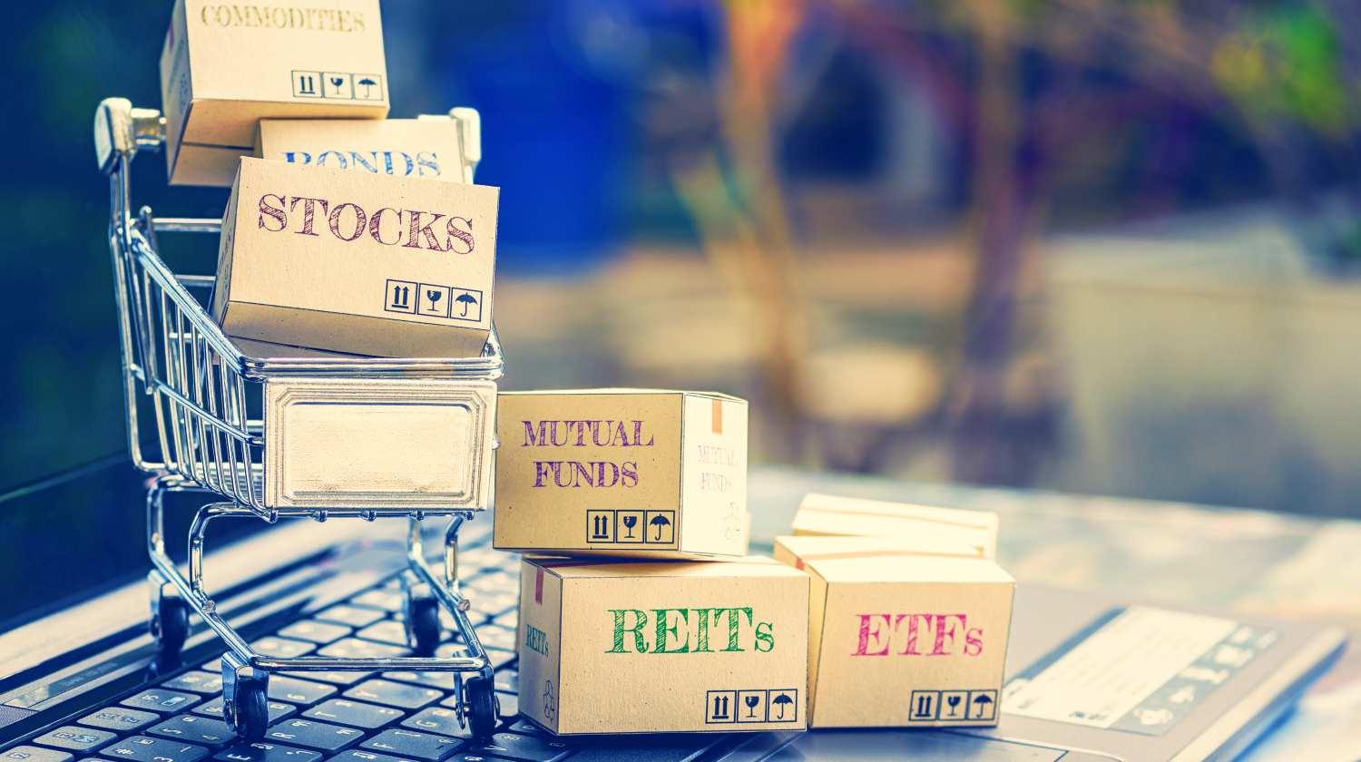 Feature | cartons financial instruments shopping cart | Guide To A Diversified Portfolio | Inside Your IRA