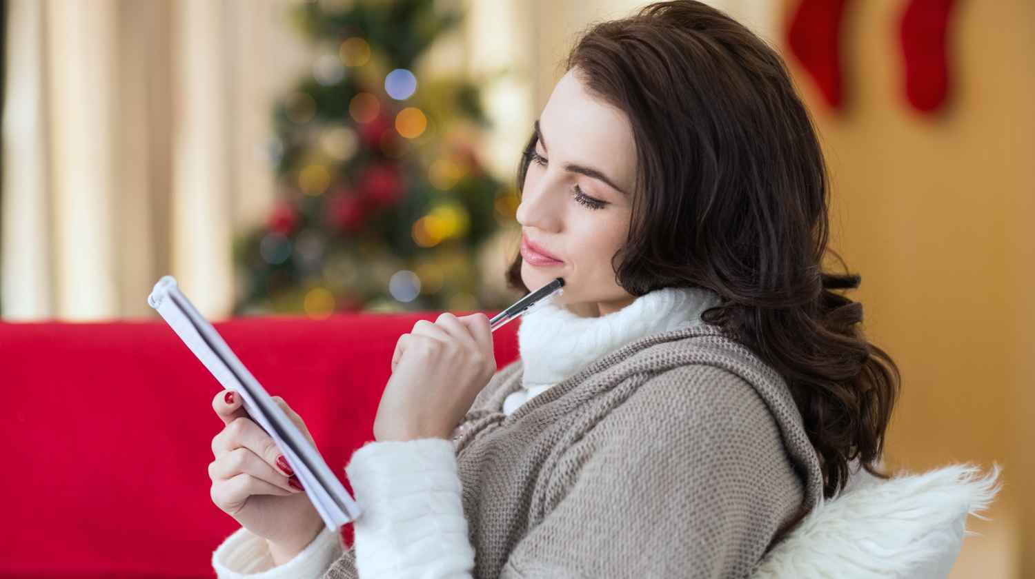 Feature | woman thinking about budget | How To Stick To Your Budget This Holiday Season | Inside Your IRA | save money tips