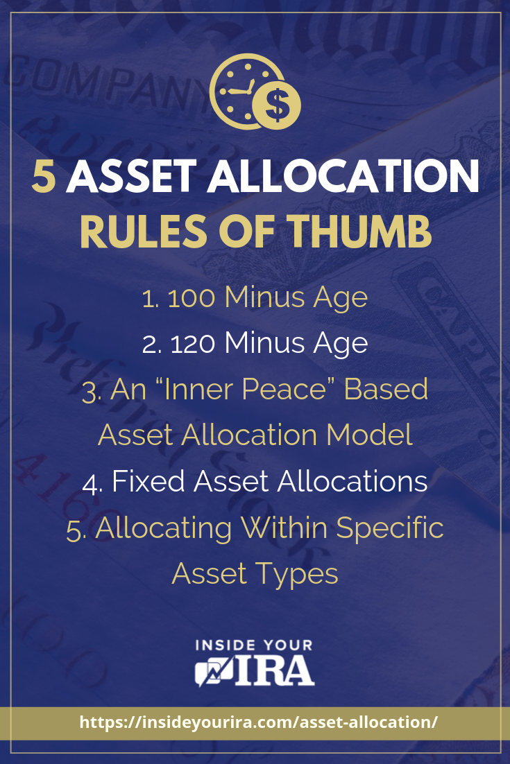 5 Rules Of Thumb For Asset Allocation | Inside Your IRA https://www.insideyourira.com/asset-allocation/